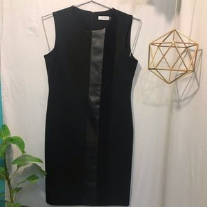 CalvinKlein Black Scuba Sleeveless Shirt Dress 10